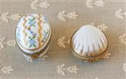 Sale 8250 - Lot 43 - A Selection of Various Limoges Trinket Boxes,  one modelled in the form of a shell