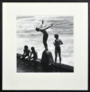 Sale 8298 - Lot 4 - Rex Dupain - The Diver - Coogee 38 x 38cm