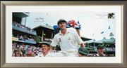 Sale 8595A - Lot 65 - A Legends memorabilia signed photograph, 'Farewell from Melbourne', Steve Waugh Feb 5 2004, 4th test against India, SCG, edition 224.