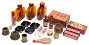 Sale 9054E - Lot 98 - Assorted oddments including Chinese and French bottles and packaging of diminutive size.