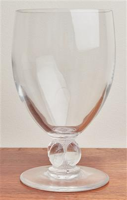 Sale 9099 - Lot 44 - A Lalique crystal goblet, Height 25cm
