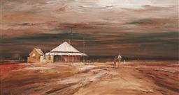 Sale 9180A - Lot 5004 - COLIN PARKER (1941 - ) Homestead at Wanarring, Western NSW oil on board 32 x 60 cm (frame: 51 x 79 x 4 cm) signed lower left, titled...