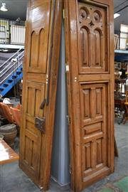Sale 8013 - Lot 1197 - Pair Of Impressive Rustic French Doors With Iron Lock