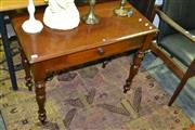 Sale 8093 - Lot 1486 - Timber Single Drawer Hall Table