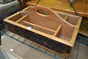 Sale 8161 - Lot 1098 - Timber Tools Tray