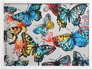 Sale 8389 - Lot 524 - David Bromley (1960 - ) - Butterflies 77 x 104cm