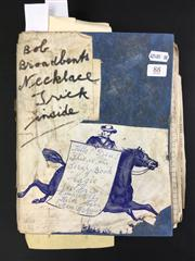Sale 8539M - Lot 88 - Keith Abson's 'Magic Scrapbook', book no. 11. Includes Bob Broadbent's Necklace Trick and other clippings annotated by Abson