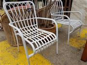 Sale 8740 - Lot 1247 - Pair of Faux Cane Carver Chairs