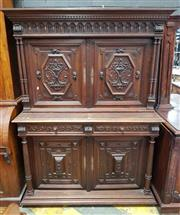 Sale 8956 - Lot 1069 - Late 19th Century French Renaissance Style Walnut Sideboard, with gallery top above two doors carved with fish panels, two drawers &...