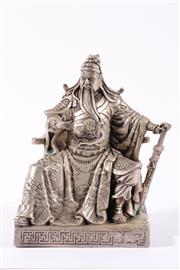 Sale 9010D - Lot 718 - Shu Lao Figure with Silvered Finish (H: 20cm)