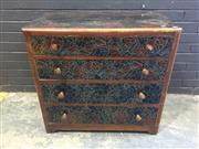 Sale 9017 - Lot 1044 - Painted Chest of 4 Drawer (h:80 x w:84 x d:49cm)