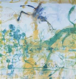 Sale 9096 - Lot 518 - John Olsen (1928 - ) Morning at the Lily Pond, 1997 offset lithograph, ed. A/P 17 64.5 x 62 cm (frame: 96 x 91 x 4 cm) signed and da...