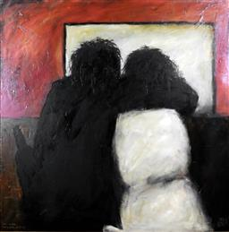 Sale 9210A - Lot 5010 - KEVIN CHARLES (PRO) HART (1928 - 2006) - The Lovers, Brewarrina Hotel 1978 90 x 90 cm