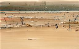 Sale 9244 - Lot 514 - GEOFFREY DYER (1947 - 2020) Rural Vista, 1986 gouache and oil on paper 62.5 x 100.5 cm (frame: 89 x 127 x 4 cm) signed and dated low...
