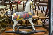 Sale 8161 - Lot 1023 - Decorative Painted Timber Rocking Horse