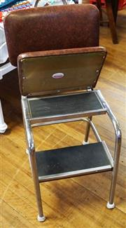Sale 8320 - Lot 902 - Chrome and vinyl chairstep with lift up seat