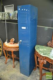 Sale 8337 - Lot 1008 - Blue Metal Single Door Locker