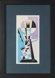 Sale 8833 - Lot 2030 - Eduard Nikonorov (1951 - ) - Untitled (Queen and Jester), 2004 20 x 8cm