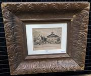 Sale 9019 - Lot 2007 - Alfred Ernest Horner, Arbitration Court,  etching, frame: 36 x 41 cm, signed lower right