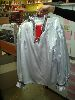 Sale 7490 - Lot 24 - 3 COSSACKS – WHITE SATINS SHIRTS WITH RED SATIN PANTS