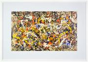 Sale 8203A - Lot 94 - Jackson Pollock (1912 - 1956) After. - Convergence 50 x 90cm (frame 91 x 128cm)