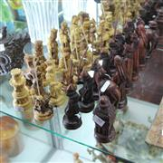 Sale 8231 - Lot 50 - Carved Timber Chess Pieces