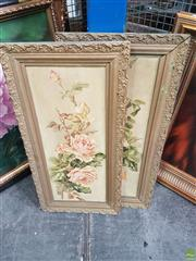 Sale 8592 - Lot 2058 - Mary Therese Dalton (2 works) Still Life - Roses, oils on canvas, 58.5 x 22.5cm, each, both unsigned