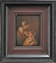 Sale 8762 - Lot 2086 - After Gerbrand van den Eeckhout (1621 - 1674) Mother and Child oil on panel, 21 x 16cm, unsigned. -