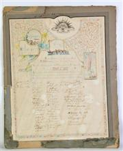 Sale 8935 - Lot 46 - A Framed Print of A Soldier Together with Proclamation