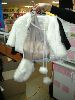 Sale 7490 - Lot 25 - 2 FUR LINED SHOULDER CAPES & MUFFS – 1 BLACK + 1 WHITE