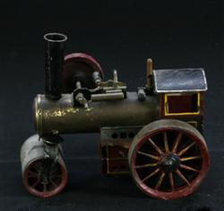 Sale 7907 - Lot 28 - Brass Red Painted Model Steam Roller (Length - 19cm)