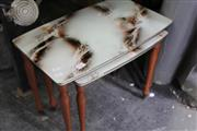 Sale 8115 - Lot 1431 - 2 Retro Style Graduated Tables on Turned Legs