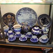 Sale 8231 - Lot 98 - Villaroy And Boch Blue And White Platter With Other Ceramics Incl German Pottery Tea Setting