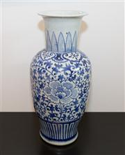Sale 8308A - Lot 4 - A large blue and white vase, with floral motif, H 52cm