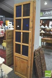 Sale 8302 - Lot 1053 - Pair of Timber Doors with Varied Glass Panels