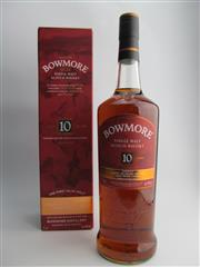 Sale 8498 - Lot 1730 - 1x Bowmore Distillery 10YO Inspired by the Devils Casks Series Islay Single Malt Scotch Whisky - 46% ABV, 1000ml in box