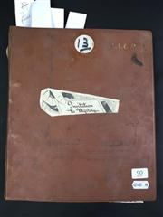 Sale 8539M - Lot 90 - Keith Abson's 'Magic Scrapbook', book no. 13. Compiled 24/3/1981. Includes 2 good, bright posters 'Thurston', 38cm x 28cm & 'The