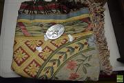 Sale 8530 - Lot 2292 - Table Cover & R.M. Williams Belt Buckle
