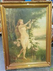 Sale 8645 - Lot 2035 - Estella Grose Neo-classical Scene with Maiden, 1896, oil on canvas laid on board (AF), 99.5 x 69.5cm, signed and dated lower right
