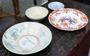 Sale 8746 - Lot 1043 - A Ming Dynasty bowl (restored) together with two later examples and a Masons chinoiserie bowl
