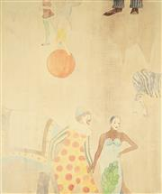 Sale 9033 - Lot 2012A - Pair of Colour Lithographs (AF) depicting Circus Scenes by Unknown Artist, signed and dated -