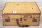 Sale 9066H - Lot 69 - A vintage trunk with leather bindings (handle broken). 25 x 59 x 47.