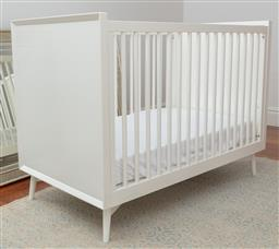 Sale 9134H - Lot 93 - A white painted timber cot together with a safety gate.