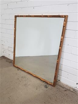 Sale 9151 - Lot 1373 - Simulated bamboo gilt framed mirror (89 x 88cm)