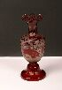 Sale 3568 - Lot 13 - A VICTORIAN ACID ETCHED RUBY GLASS VASE