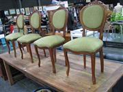 Sale 7937A - Lot 1178 - Set of 4 Carved Balloon Back Chairs