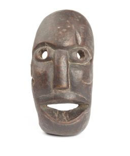 Sale 8379A - Lot 77 - A hardwood tribal mask, height 22cm, showing age