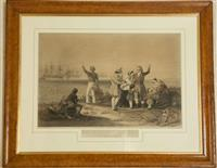 Sale 8392H - Lot 29 - After J Kagan, Published by Ackermann London, 1853 - The Emigrants Farewell