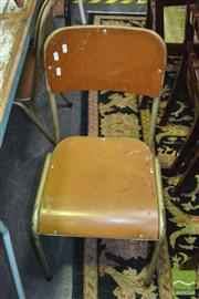 Sale 8431 - Lot 1043 - Set of 4 Vintage School Chairs