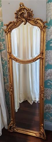Sale 8448A - Lot 62 - French baroque style gold leaf gilded pier mirror with acanthus detail & bevelled glass Condition: Reproduction some wear to gildi...